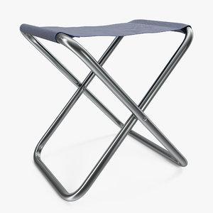 portable fishing chair 3d max