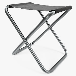 small fishing folding chair 3d 3ds