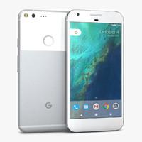 google pixel xl silver 3d 3ds