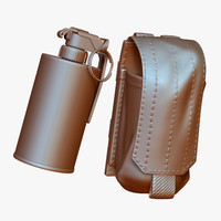 zbrush smoke grenade pouch 3d 3ds