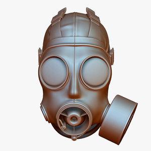 3d model gas mask s10