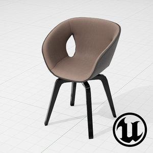 3d model frau ginger chair ue4