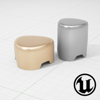 3d model pebble tables ue4