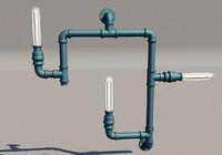 sconce otis industrial lamp 3d 3ds