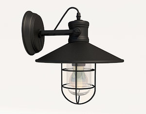 sconce antique industrial 3d max