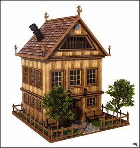 3d cartoon house toon model