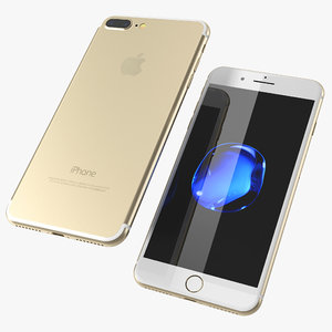 3d model of iphone 7 gold