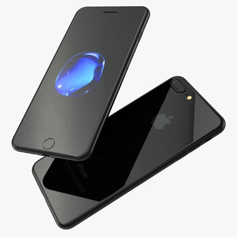 3d c4d iphone 7 jet black