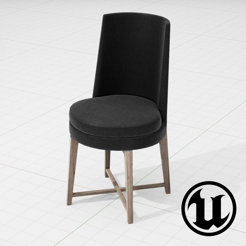 3d model flexform feelgood chair ue4