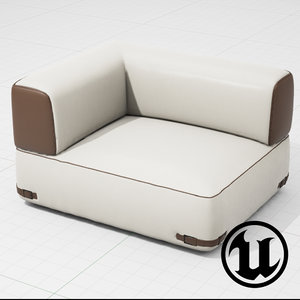 fendi soho sofa ue4 fbx