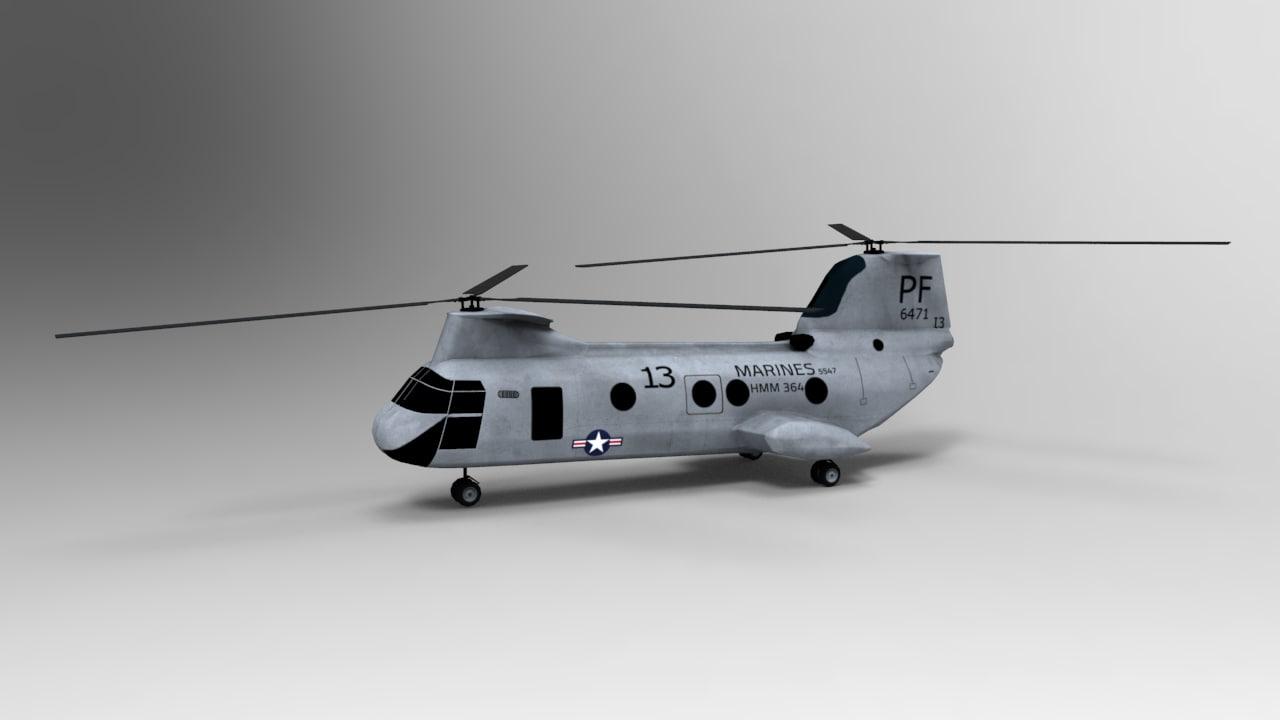 ch-46 3d obj