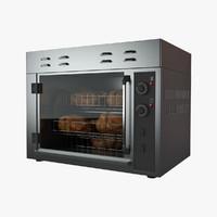 3d model rotisserie oven