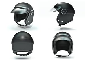 helmet vespa safety hard hat 3d blend