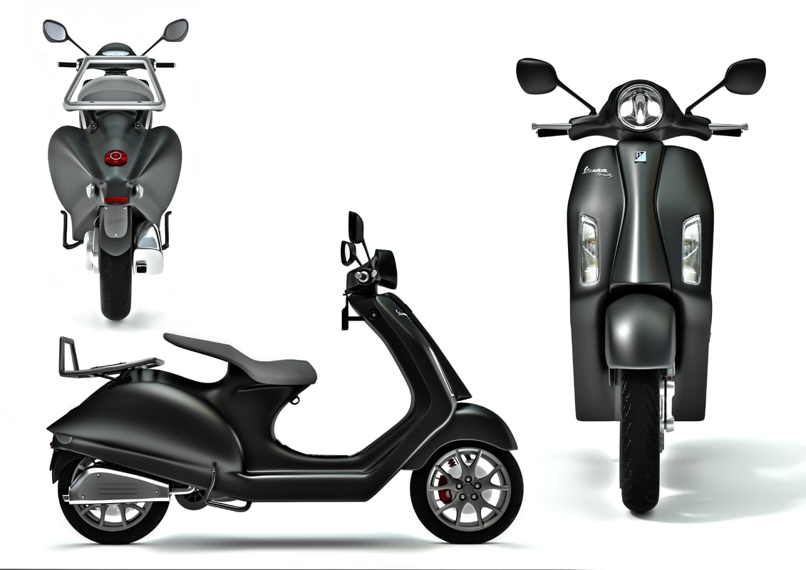 vespa piaggio scooter motorcycle 3d model