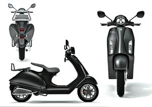 vespa piaggio scooter motorcycle 3d model
