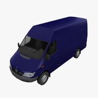 mercedes sprinter cargo van 3d model