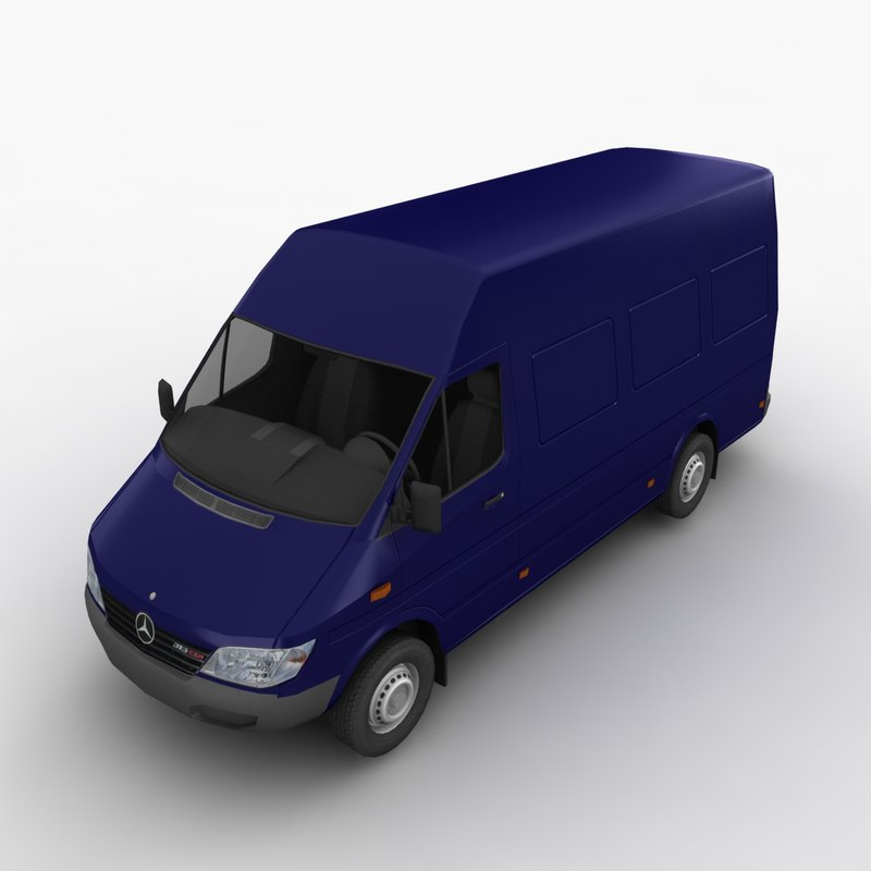 mercedes sprinter cargo van 3d model