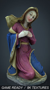 3d max virgin mary