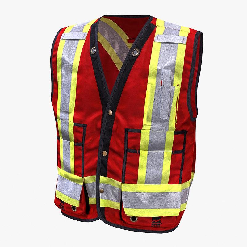 safety vest 3d model