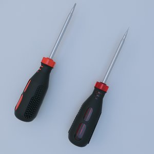 3d model screwdriver phillips head