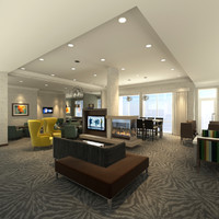 lobby relax tv room 3d max