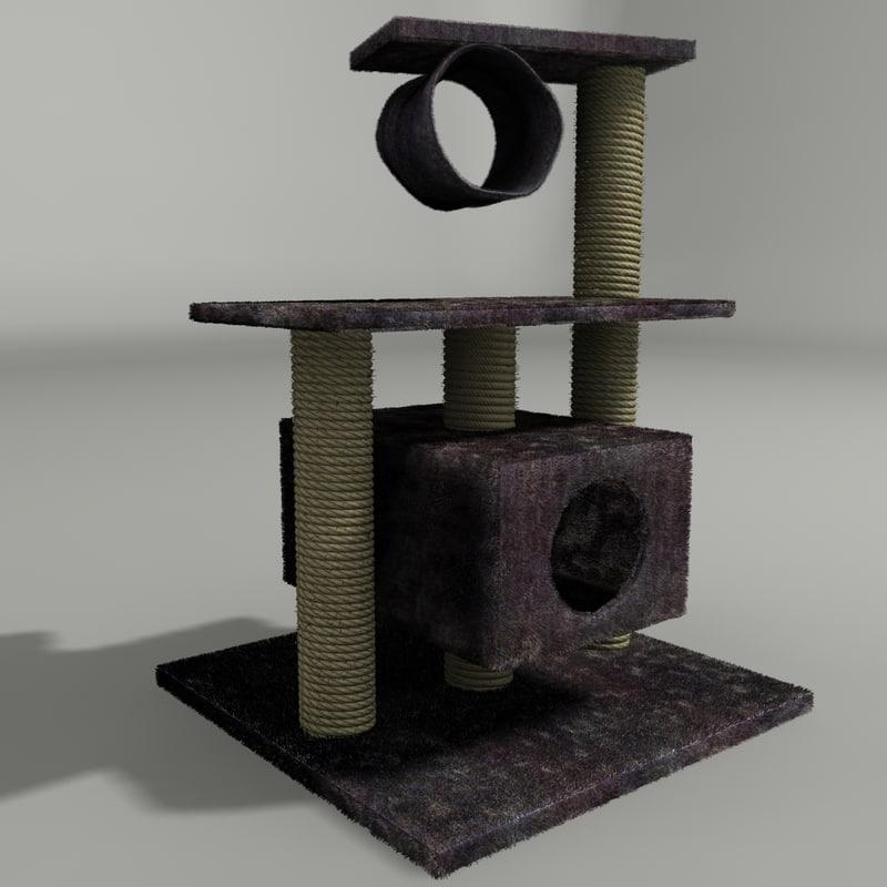 cat playhouse 3d 3ds