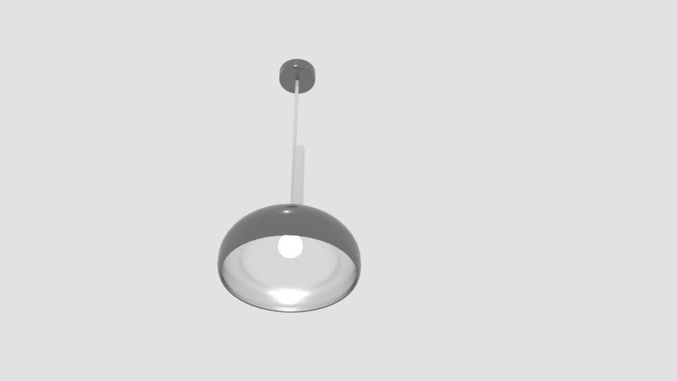 3d rock chromed metal ceiling light