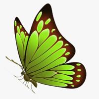3d model beautiful butterfly cartoon