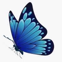 beautiful butterfly cartoon ar 3d model