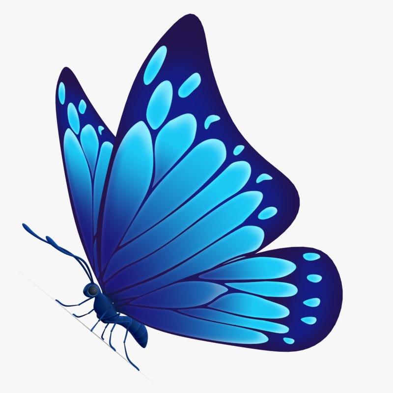 3d beautiful butterfly cartoon model