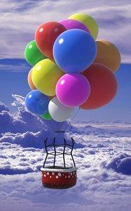 santa claus balloon 3d max