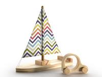 3d model wooden toy boat car