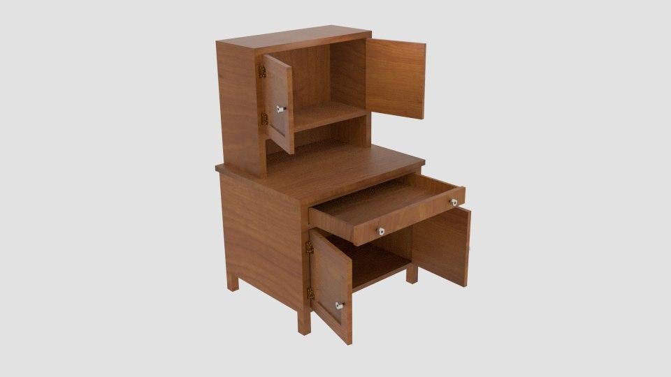 hoosier cabinet 3d x
