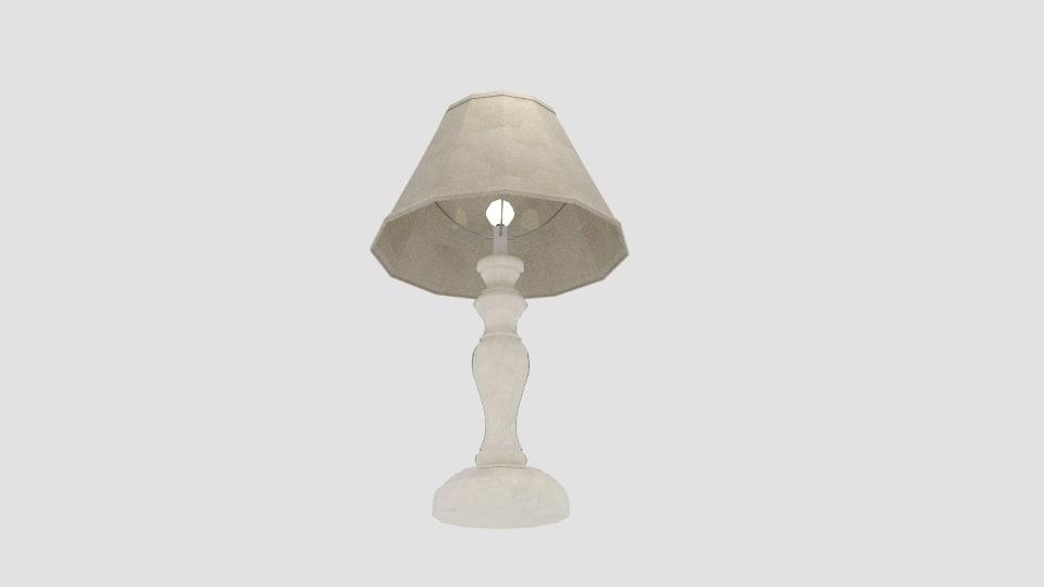 3d model oaks lighting provence table lamp
