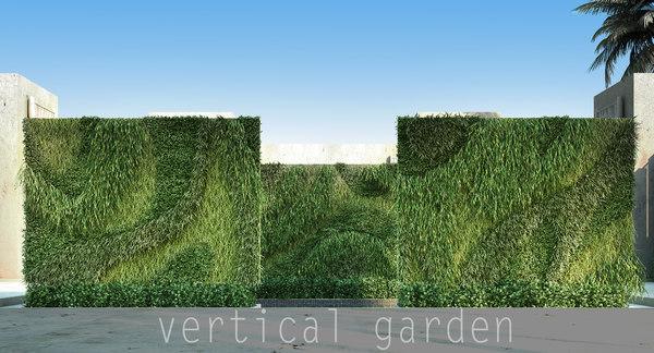 3d vertical garden model