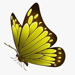 3d beautiful butterfly cartoon