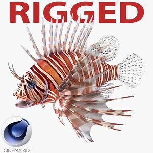 c4d lionfish rigged