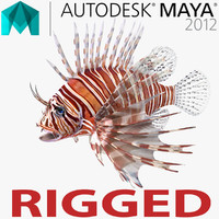 Lionfish Rigged for Maya