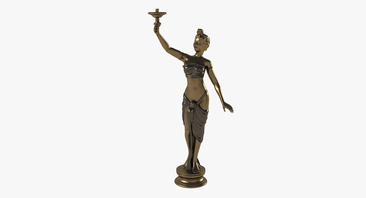3d model sculpture antic