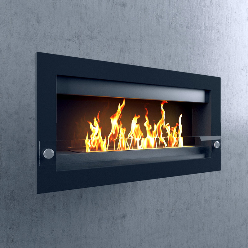 3d model wall-mounted fireplace