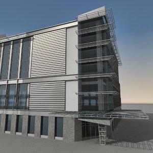 3d model of modern building