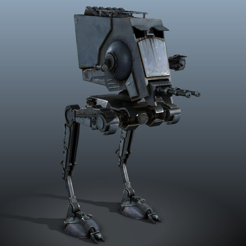 star wars at-st - 3d obj