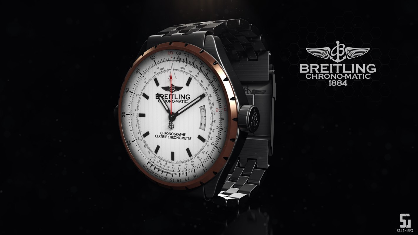 breitling chrono-matic 1884 3d model