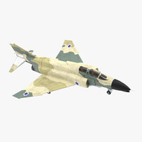 3d model f-4e kurnass israeli air force