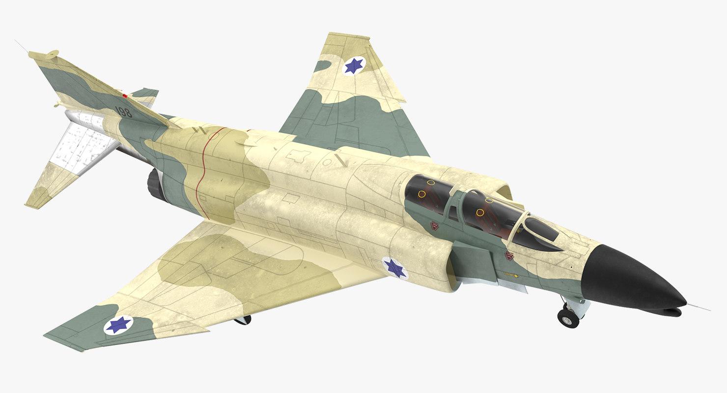 3d model f-4e kurnass israeli air force