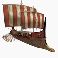 Low-poly Greek Trireme