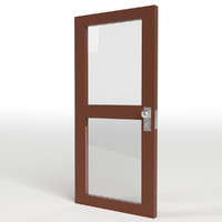 double glass door 3d model