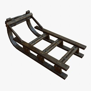 3d wooden sled