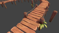 Toon Modular Bridge - Game Props