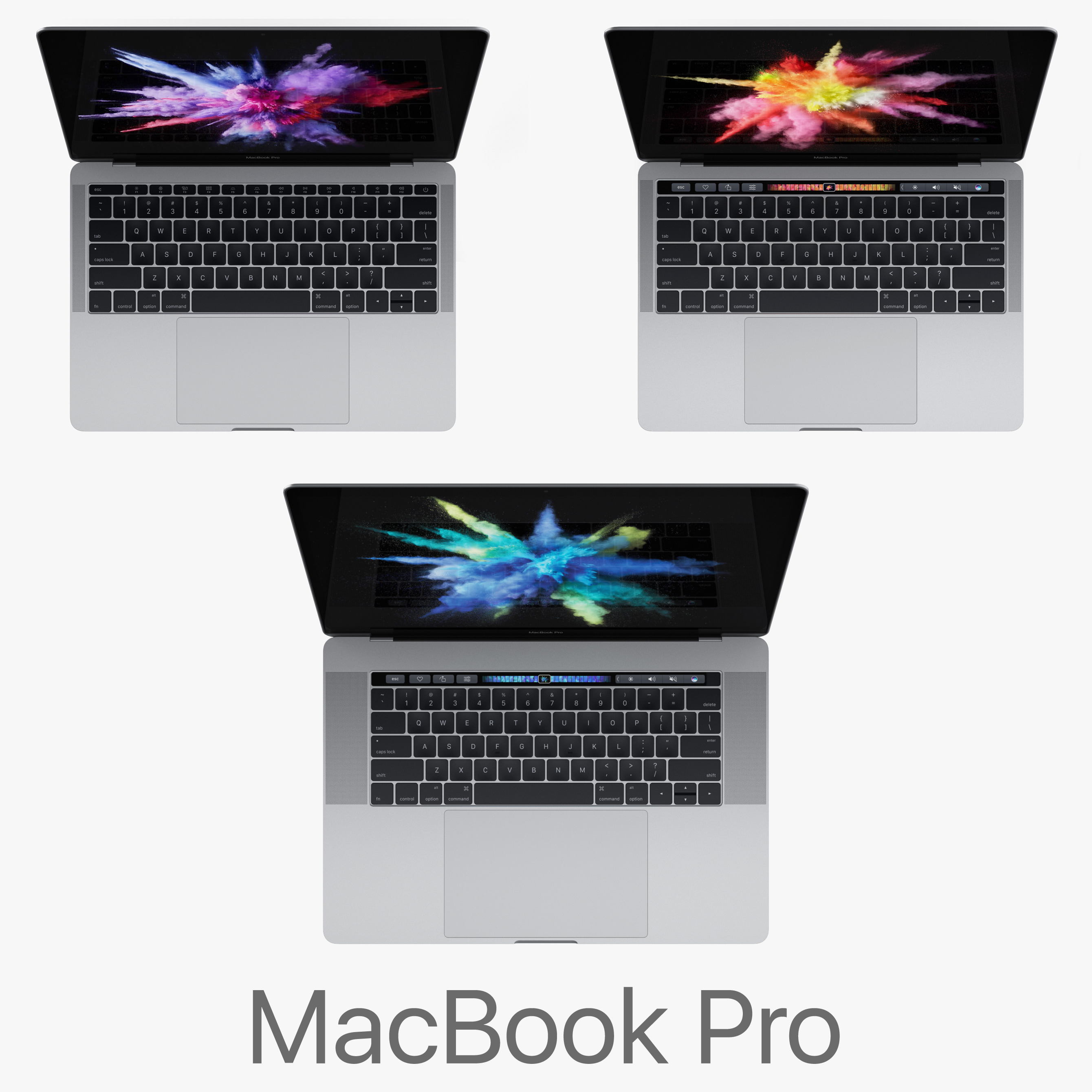 macbook pro 2016 3d model
